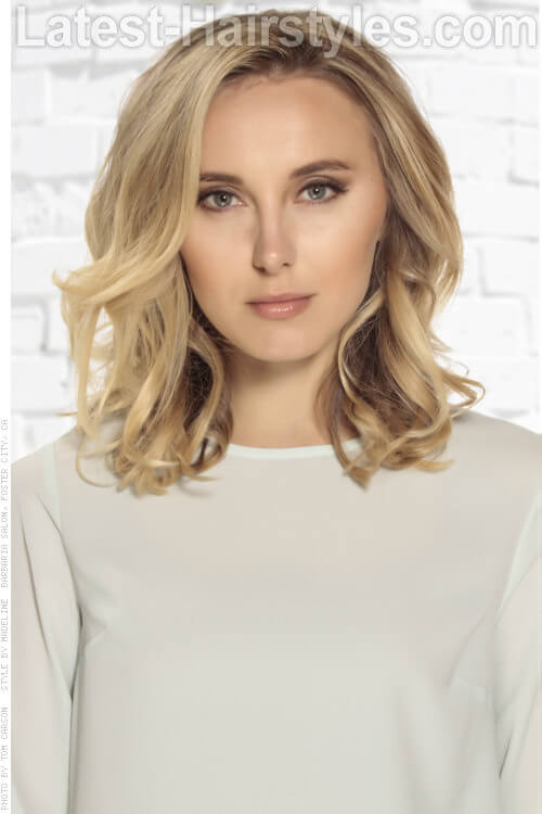 Blonde Haircolor with Light Brown Base