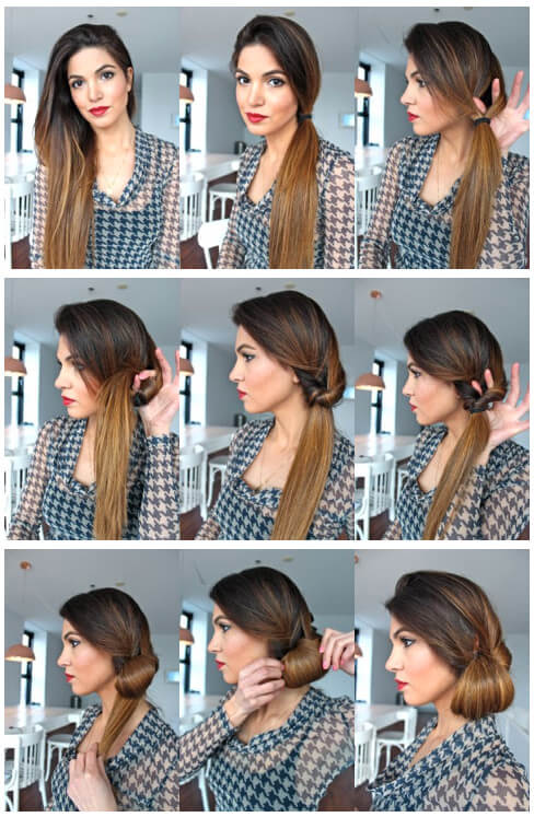 low bun hairstyles