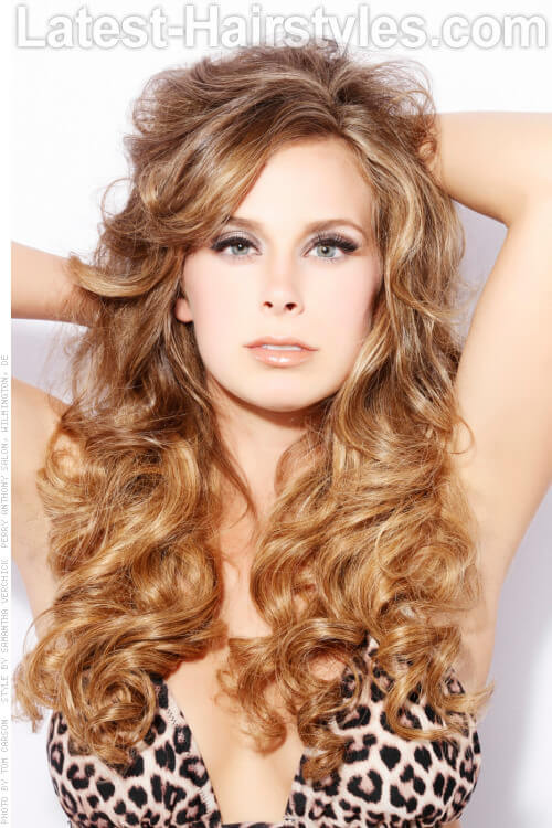 Golden Sombre Haircolor with Curls