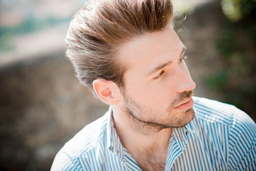Haircut for Men with Longer Layers