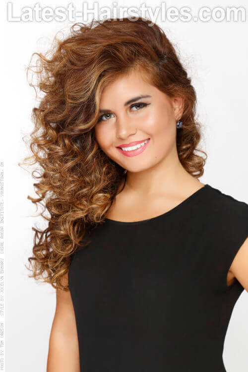 Long Naturally Curly Hairstyle