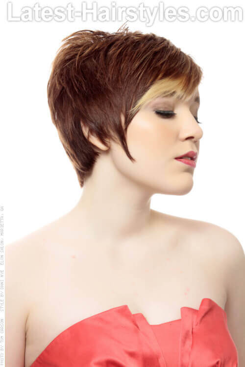 Long Pixie Hairstyle Side