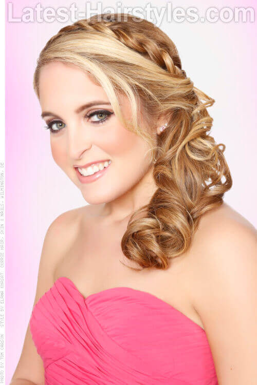 Low Side Pony with Braided Headband