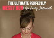 messy bun tutorial