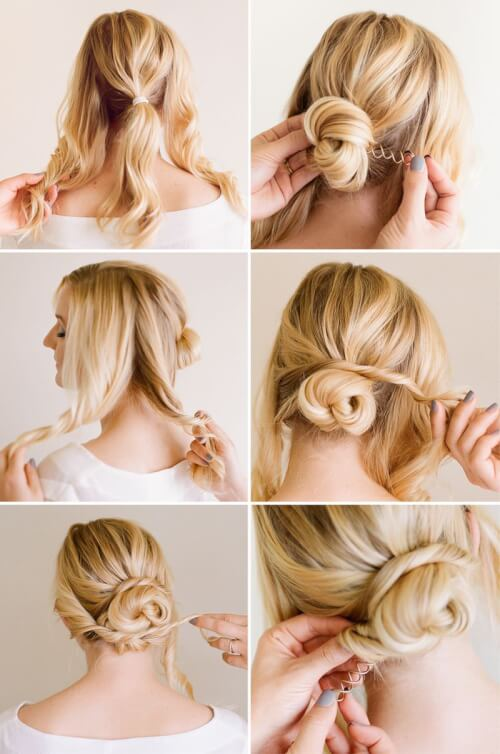layered bun hairstyles