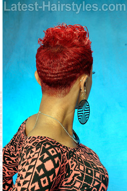 Short Easy Red Hairstyle Back