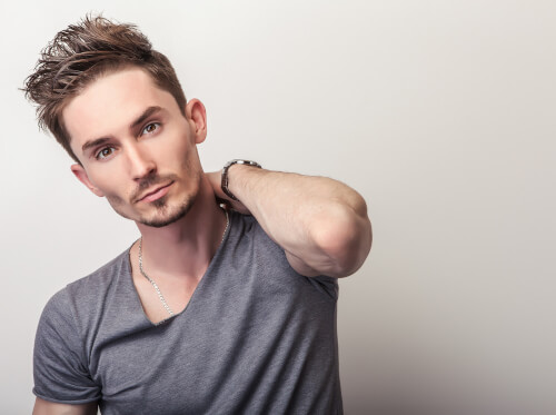 Short Hairstyle for Men with Texture