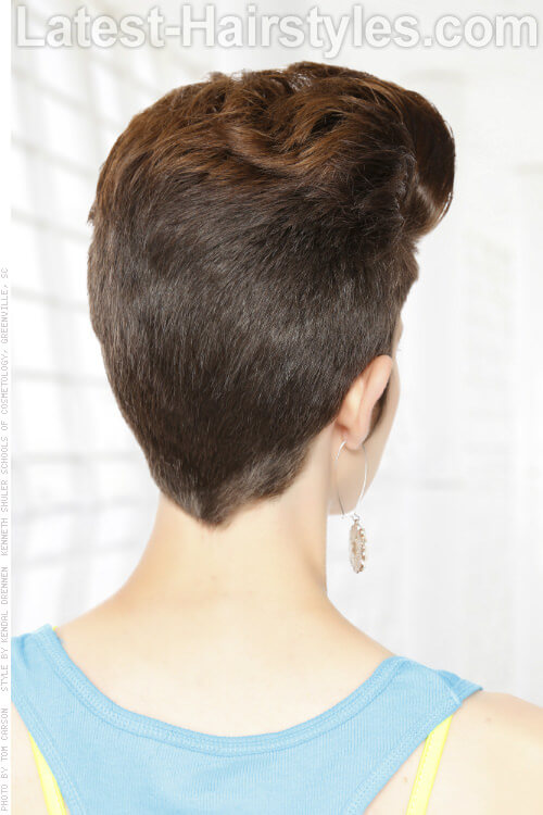 Short Hairstyle for Round Face Back View