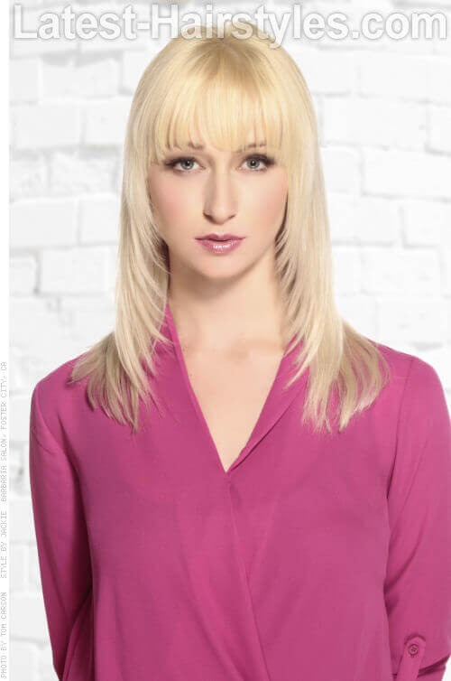 Straight Hairstyle with Bangs