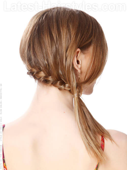 Braided Beauty Simple Style Back View