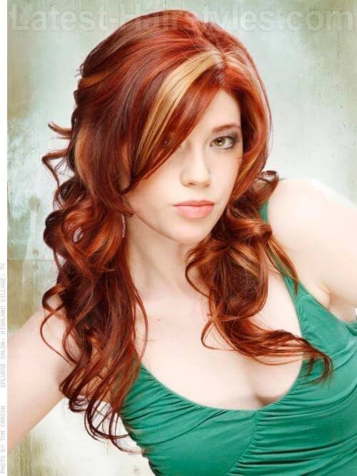 Auburn Red Hair Color Ideas