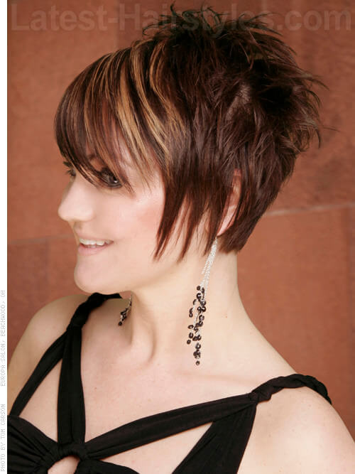 Feminine Long Pixie with Piecey Wisps and Highlights