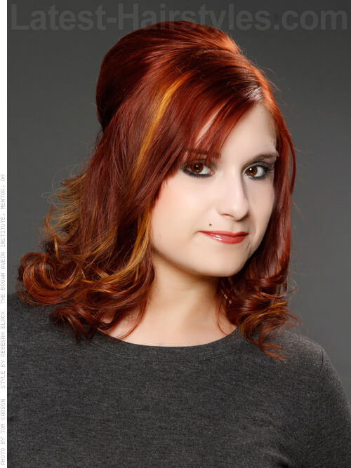 Fiery Copper Hair Highlights Red with Accents