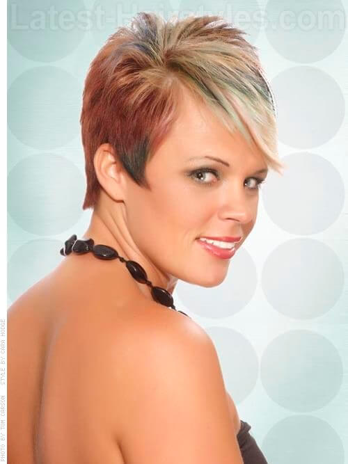 Fringed Pixie Multi Toned Feathered Hairstyles For Straight Hair Side View