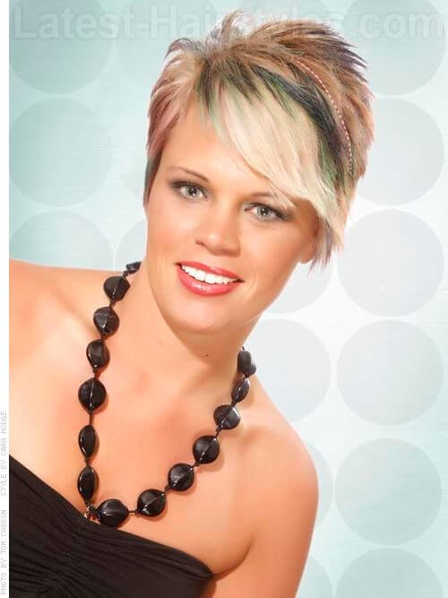 Fringed Pixie Multi Toned Feathered Hairstyles For Straight Hair
