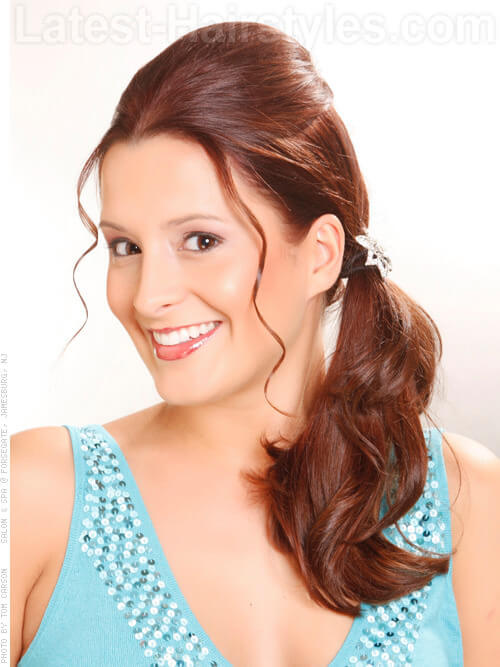 Fun Simple Ponytail with Wispy Front Pieces