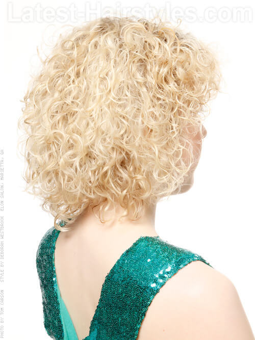 Naturally Curly Look Blonde Back View