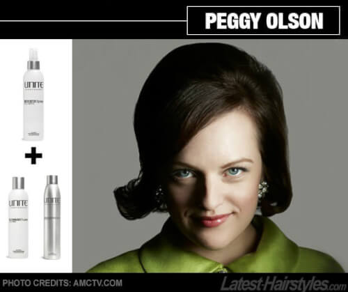 Peggy Olsen mad men hair tutorial