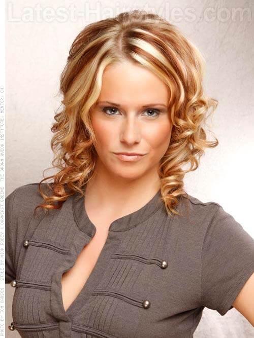 Ribbon Highlights Bright Blonde and Medium Brown
