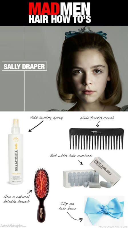 Sally Draper Mad Men hairstyle tutorial