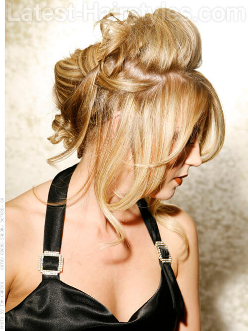 Va Va Voom Blonde Hair Highlights Side View