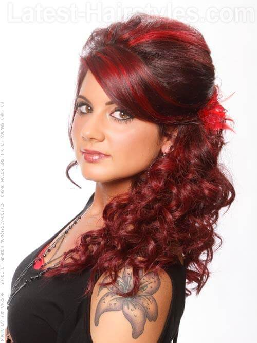 Vivid Crimson Red Highlights Side View