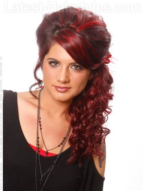 Vivid Crimson Red Highlights