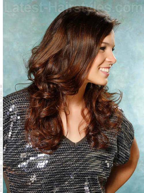 Long Layered Low Maintenance Hairstyle Side View