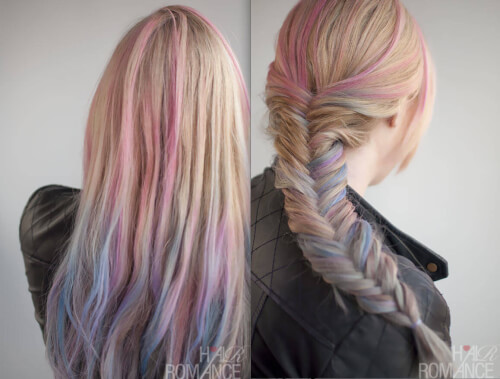 Hair Chalking Fishtail Braid