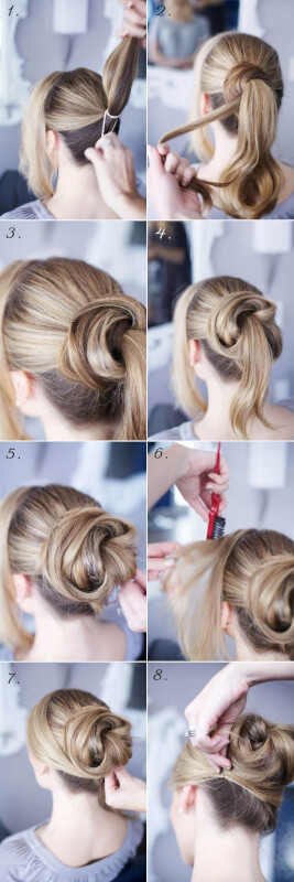 How To Create A Spiral Bun