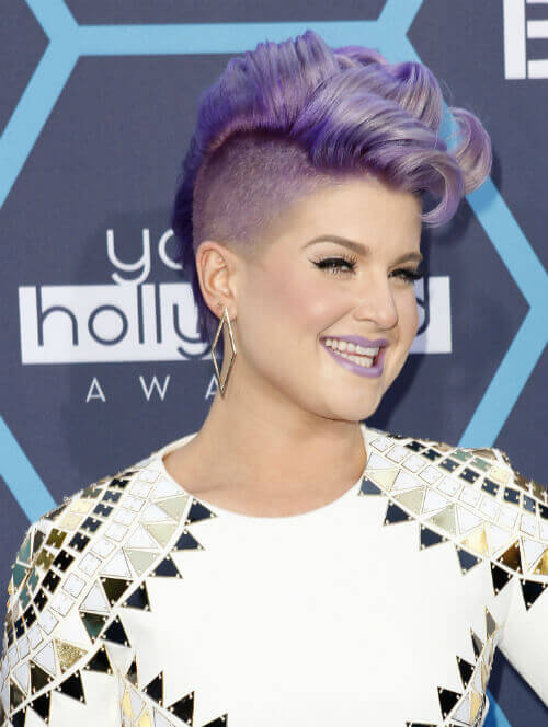Kelly Osbourne Short Hairstyle with Curls