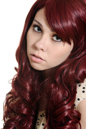 Light Auburn And Burgundy Hair Color Mix