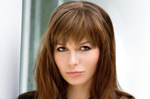 Hairstyles For Long Hair Long Bangs : Long Hairstyle with Full Fringe