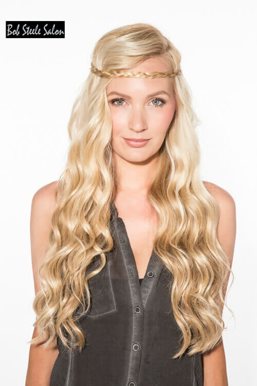 Long Layered Haircut with Waves and Headband