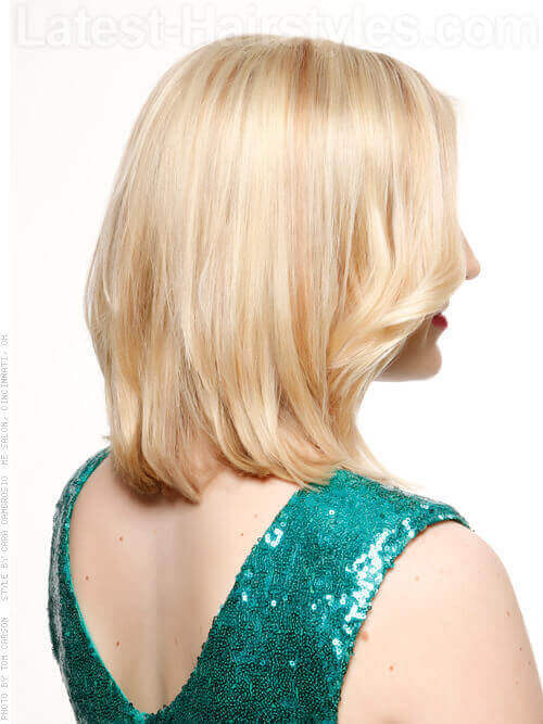 Cute Haircut With Face Framing Layers Side View