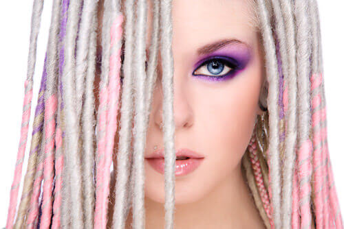 Punk Pastel Dreadlock Hairstyle