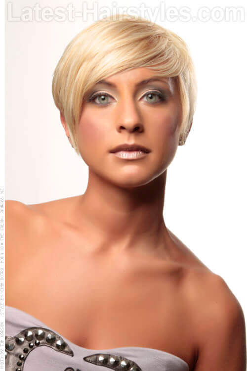 Short Blond Asymmetrical Haircut