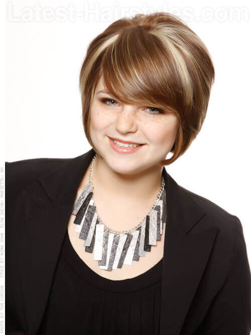 Short Stacked Bob Hairstyle With Layers