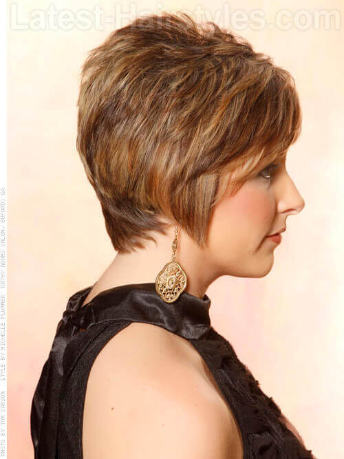 Short Textured Pixie Haircut With Bangs