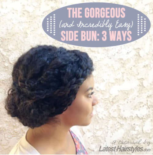side bun hairstyles tutorial