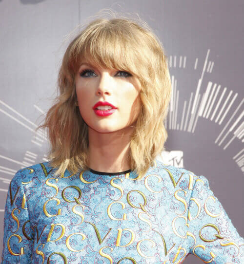 Taylor Swift Hairstyle with Natural Texture