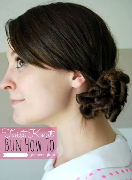 Twisted Knotted Bun Hairstyles Tutorial
