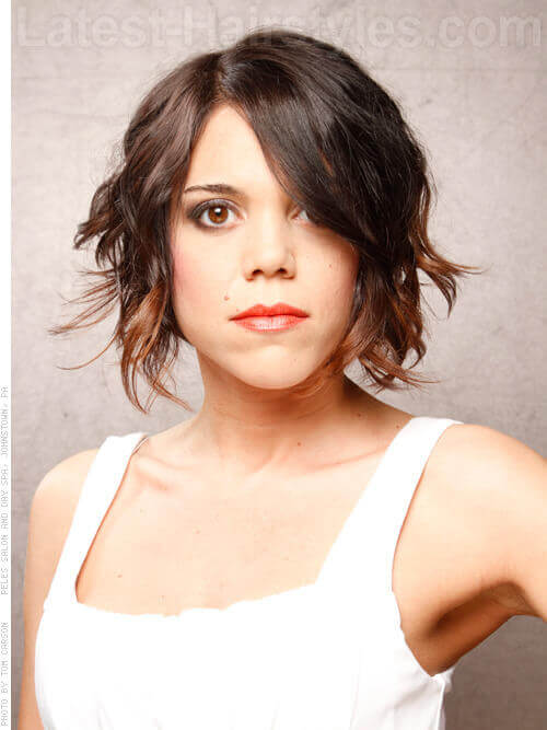 Wavy Bob Short Hairstyles For Thin Hair