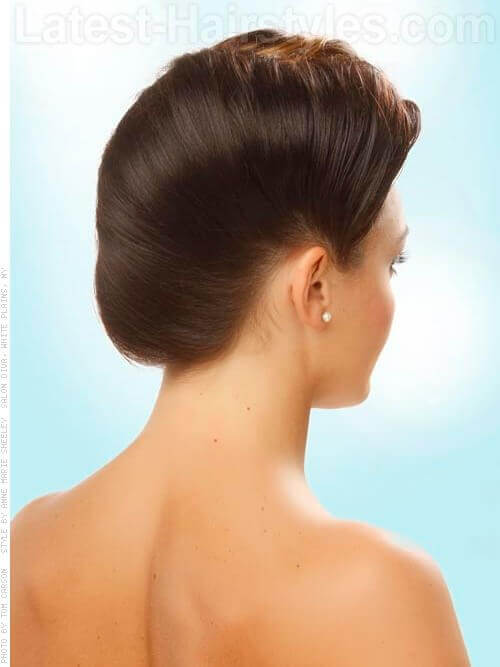 All Combed Over Stylish Formal Look with Bangs Rear View