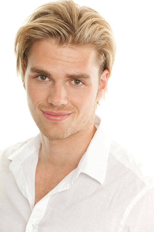 Beach Blond Short Style for a Man