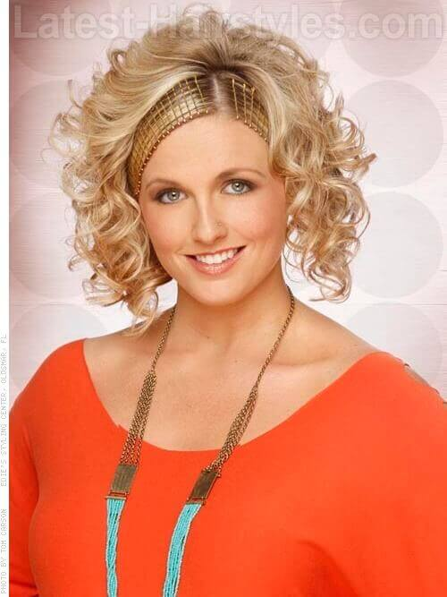 Bobby Pin Headband Curly Wispy Short Hair Updo
