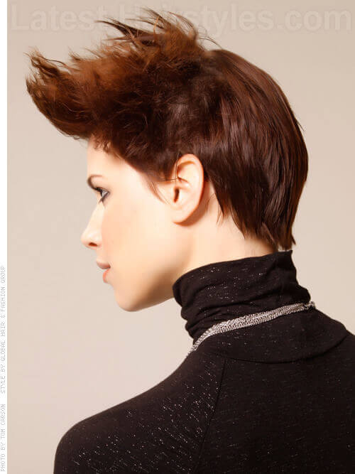 Defy Gravity Textured Blown Back Short Look Rocker Chic Bohemian Side View