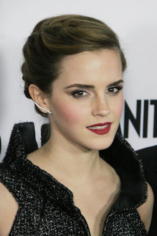 Emma Watson short braided updo