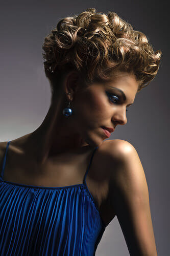 Full and Elegant Thick Wavy Curls Short Hair Updos