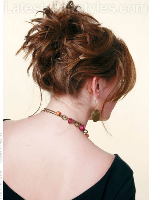 Fun Twisty Style Short Hair Updo